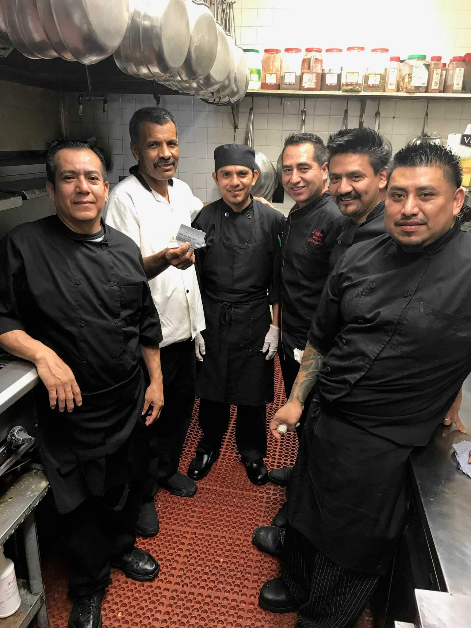 Simon Morales and the kitchen crew at Villa Roma.