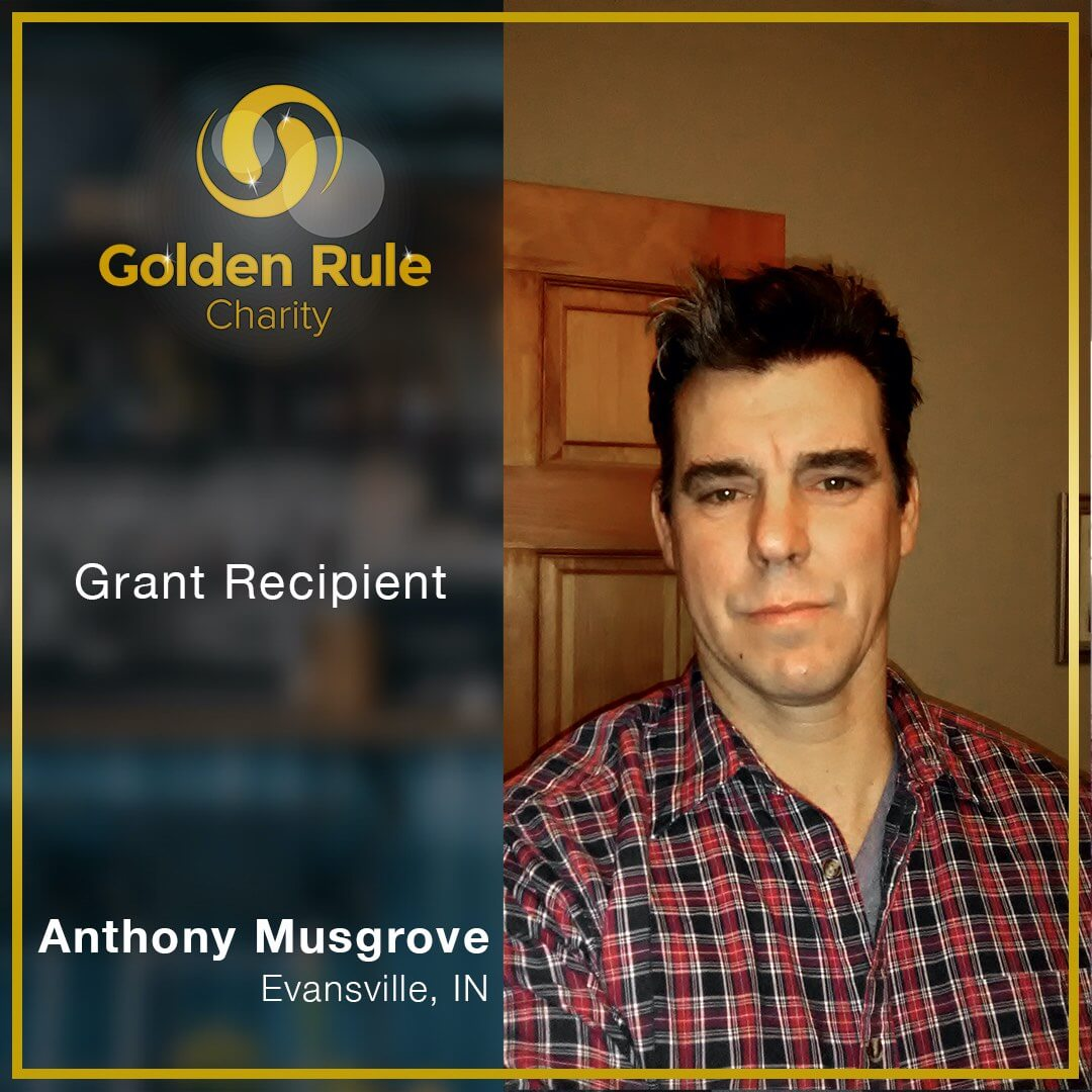 """""""Golden Rule Charity was a life saver for me. They were courteous, responsive and above all, generous … helping me to pay my rent and electric bills on time. I encourage those who have enough to make a heart-felt donation so others may find their own relief as I did. Thank you Golden Rule!"""" _ Anthony Musgrove, Evansville, IN"""